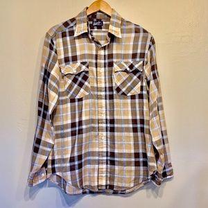 Levi's Regular Fit Vintage Plaid Mens Button Down